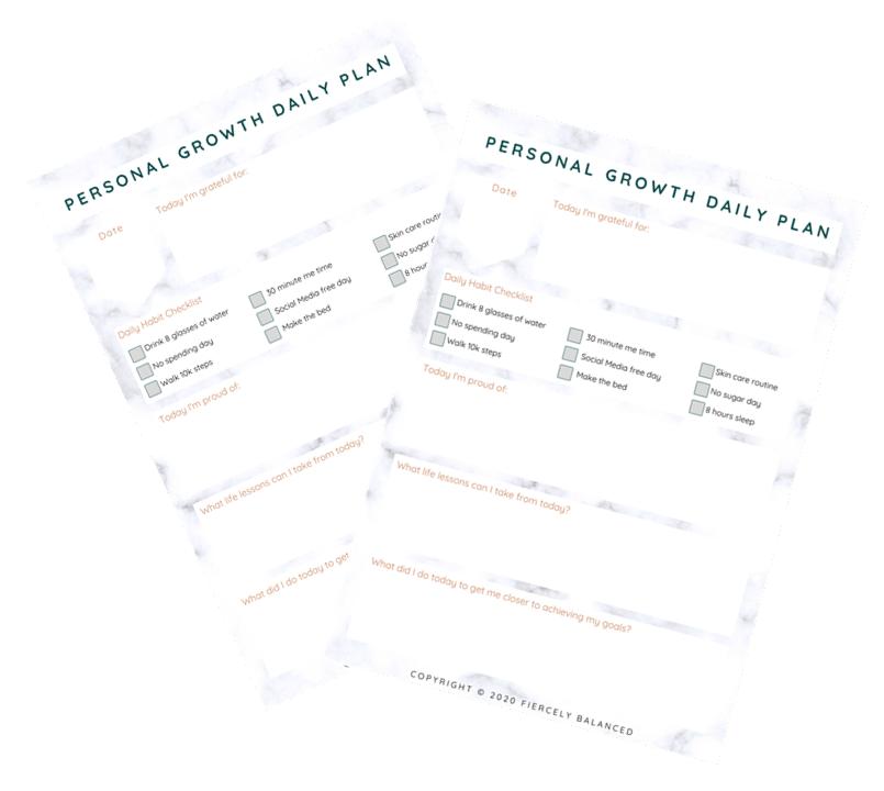 Fiercely Balanced Worksheet