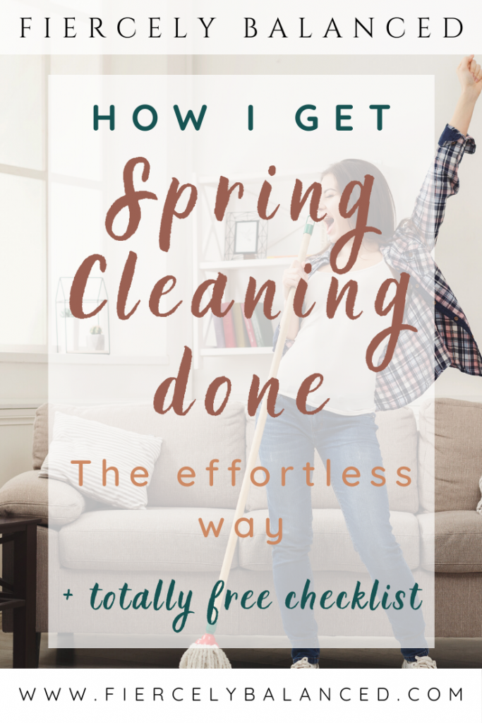 Fiercely Balanced | How I Get Spring Cleaning Done The Effortless Way: When spring hits, I grab my mops and brooms, vacuum cleaners and detergents and just go at it like crazy. I get it done in no time. Want to know how I get spring cleaning done the effortless way?