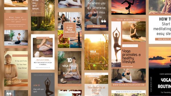 Fiercely Balanced Templates   Pinterest Graphics