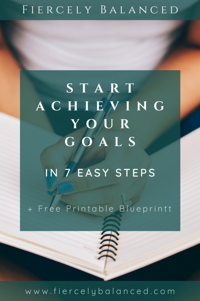 Fiercely Balanced | Start Achieving Your Goals in 7 Easy Steps Blog Banner